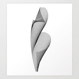 """Linear Collection"" - Minimal Letter B Print Art Print"