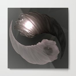 Substance: Ying Yang Metal Print