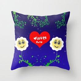 Smiling Daisies Throw Pillow