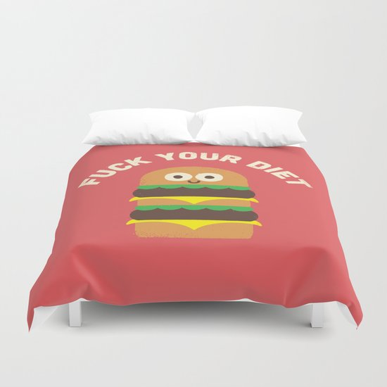 Discounting Calories Duvet Cover