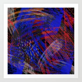 Abstract blue background Art Print