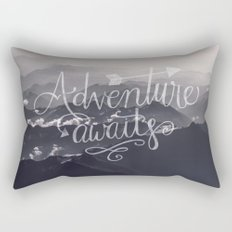 Adventure awaits - go for it! Rectangular Pillow