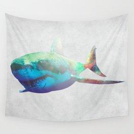 Rocket Shark Wall Tapestry