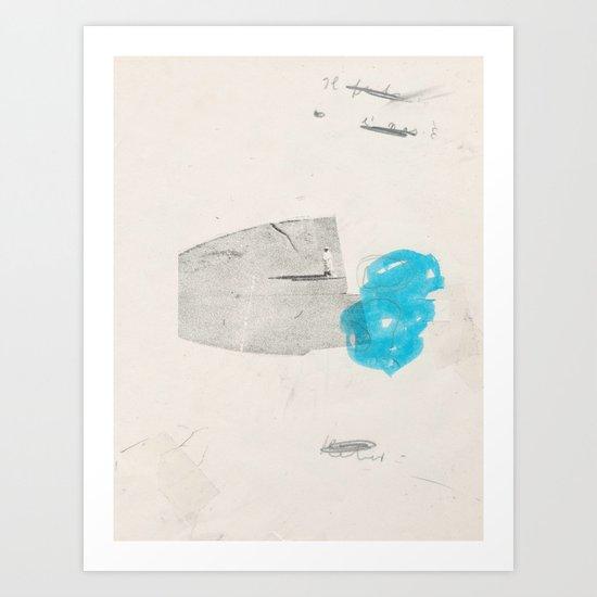 glue Art Print