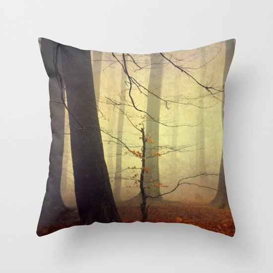 Forest Glow Throw Pillow