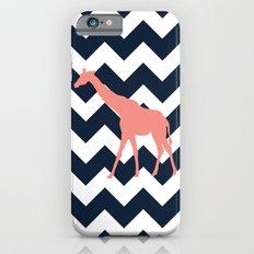 Giraffe on Chevron Background Slim Case iPhone 6