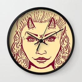 Devil Woman Wall Clock