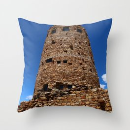 Desert View Watchtower - South Rim Grand Canyon Throw Pillow