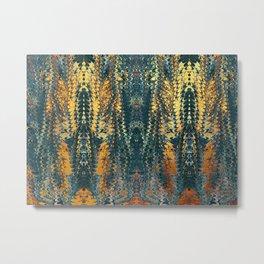 gold cactus marble Metal Print
