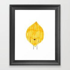 EAT YOUR FRUIT! // LEMON Framed Art Print
