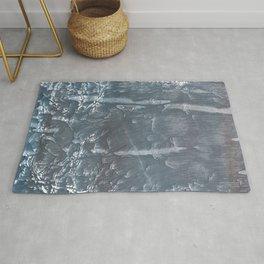 Dark abstract painting Rug