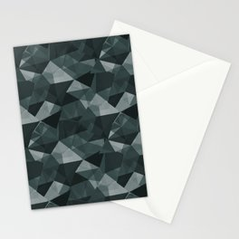 Abstract Geometrical Triangle Patterns 4 PPG Glidden Night Watch 1145-7 Stationery Cards