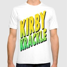 Kirby Krackle - Yellow/Green Logo MEDIUM Mens Fitted Tee White