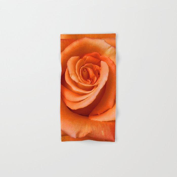 Orange Rose Hand & Bath Towel