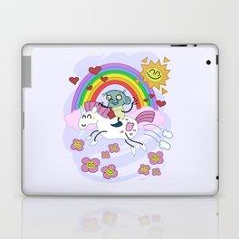 Unicorn Rainbow Ride to Love - Steve, the loving zombie Laptop & iPad Skin