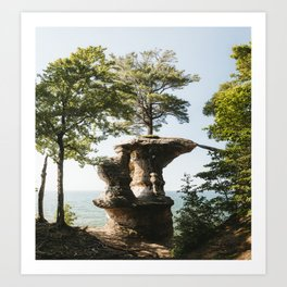Chapel Rock   Pictured Rocks, Upper Peninsula, Michigan   John Hill Photography Art Print