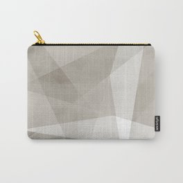 Desert Shadow No. 2    Abstract in Neutrals Carry-All Pouch