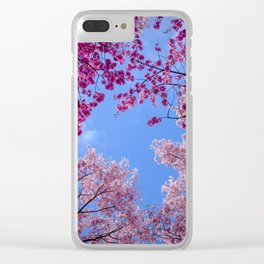 Cherry blossom explosion Clear iPhone Case
