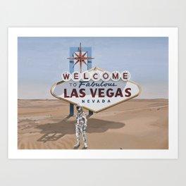 Leaving Las Vegas Art Print