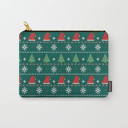 Ugly Christmas Trees Sweater Pattern Carry-All Pouch