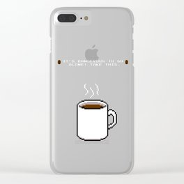Its dangerous to go alone Take this coffee Clear iPhone Case