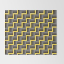 Plus Five Volts - Geometric Repeat Pattern Throw Blanket