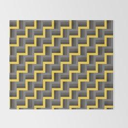 Plus Five Volts - Geometric Repeat Pattern Throw Blanket