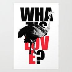 WIL? Ostrich Art Print