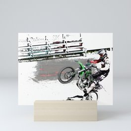 Making a Stand - Freestyle Motocross Rider Mini Art Print
