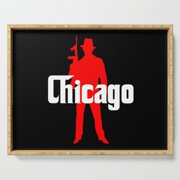 Chicago mafia Serving Tray