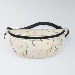 Breasts in Cream Fanny Pack