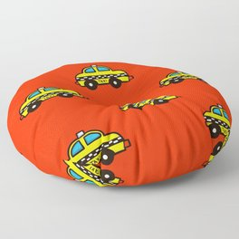 NYC Taxi Cabs Floor Pillow