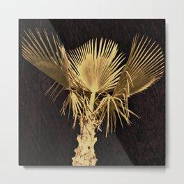 Golden Palm Tree 2 Metal Print