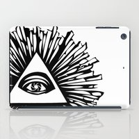 all seeing eye iPad Cases featuring All seeing camera eye by dsimpson
