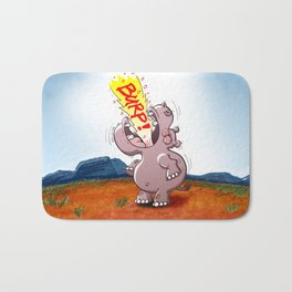 Hippopotamus Burping Loudly Bath Mat
