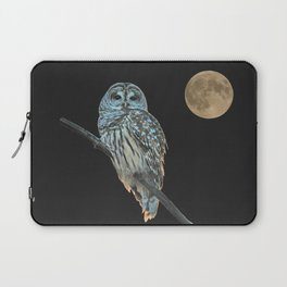 Owl, See the Moon (Barred Owl) Laptop Sleeve