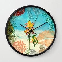 Sea Shell Flowers I Wall Clock