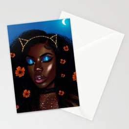 Pretty Brown Lady Stationery Cards