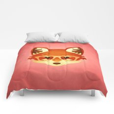 Hipster Fox: Rose Comforters