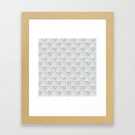 Vintage Scalloped Framed Art Print