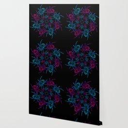 Neon spider spiral Wallpaper