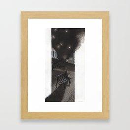 Nighttime in Richmond Framed Art Print