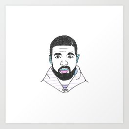 The Rapper-a-Day Project | Day 22: Drake Art Print