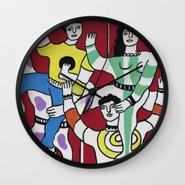 Fernand Léger The Acrobats 1942 (Les Acrobates) Artwork Reproduction, Tshirts Posters Bags for Men Women and Kids Wall Clock