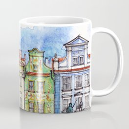 Poznan houses ink & watercolor illustration Coffee Mug