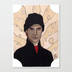 BLACK-CLAD BURGLAR Canvas Print