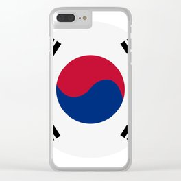 south korea flag Clear iPhone Case