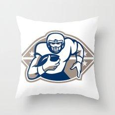 American Football Runningback  Star Front Throw Pillow