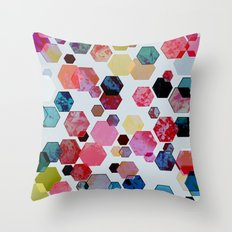 C13 construct hex v1 Throw Pillow