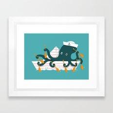 Sailor Octopus Framed Art Print